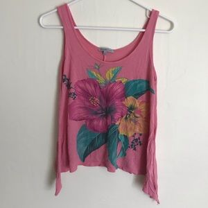 Charlotte Russe Floral tank top flowy pink